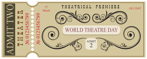 Blank for ticket World Theater Day