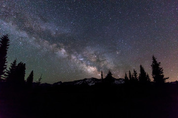 Milky Way Lights Up the Colorado Mountain Sky