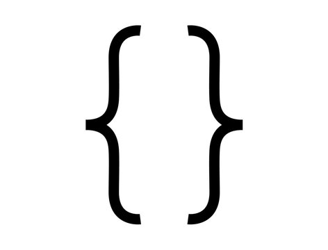 Programming and maths brackets icon