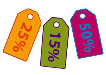 Sammlung von Rabatt Etiketten in bunten Farben. Eps 10 Vektor-Datei