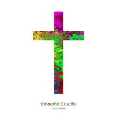 Paint Splatter  - Crucifix