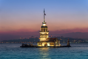 Istanbul, Turkey, 11 January 2007: The Maiden's Tower