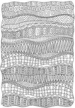 Artistically ethnic abstract background. Hand-drawn, ethnic, floral, retro, doodle, vector, zentangle design element. Adult coloring book page. A4.