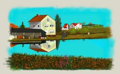 Bayerische Landschaft, Dorflandschaft