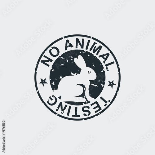 Tampon No Animal Testing En Fondo Gris Stock Image And Royalty Free