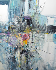 Modern background - abstract painting