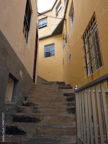 Treppe Durch Eine Enge Gasse Von Porto Naos Stock Photo And Royalty