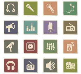 musical equipment icon set