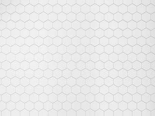 Obraz White hexagonal tile - fototapety do salonu