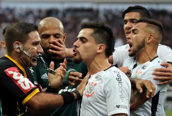 Soccer Football - Corinthians v Palmeiras - Sao Paulo Championship