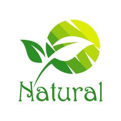 Green Natural Logo Vector Silhouette