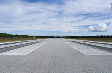 Aviation: Runway of the small airfield on Laesoe island