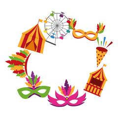 circular frame carnival elements
