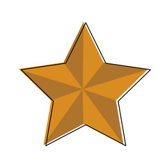 Star shape symbol vector illustration graphic design