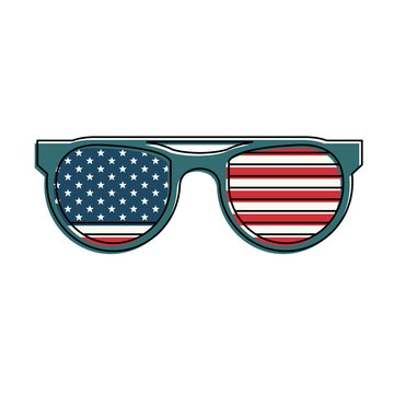 USA sunglasses style vector illustration graphic design