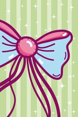 Cute bow cartoon