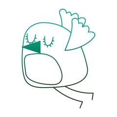 cute cartoon bird flying image