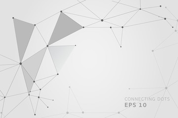 Abstract connecting dots and lines, Polygonal background, technology design, vector illustrator.