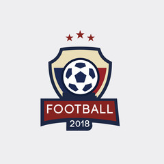 Soccer Football Badge logo, vector illustration