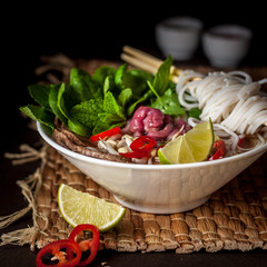 Vietnamese Beef Noodle Soup Pho Bo