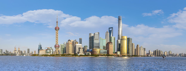 Skyline of urban architectural landscape in Shanghai