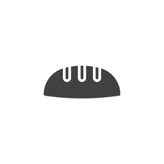 Loaf bread vector icon. filled flat sign for mobile concept and web design. simple solid icon. Symbol, logo illustration. Pixel perfect vector graphics