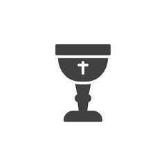 Church bowl vector icon. filled flat sign for mobile concept and web design. Church goblet simple solid icon. Symbol, logo illustration. Pixel perfect vector graphics