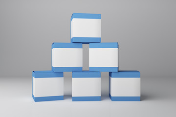 Blank blue medicine container