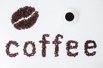 Stylish coffee background