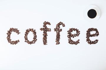 White coffee backdrop