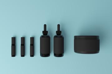Clean black medicine container