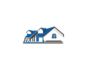 house real estate residential building logo