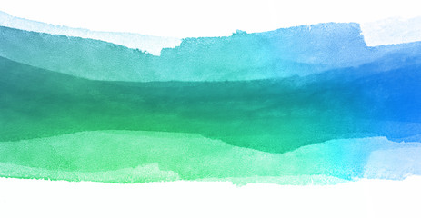 green blue watercolor paint strip
