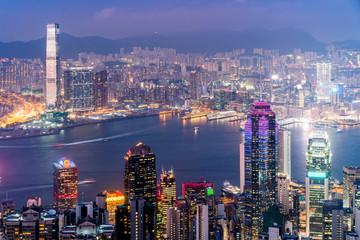 Hong Kong city at night.