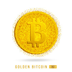 The letter B - the financial sign bitcoin
