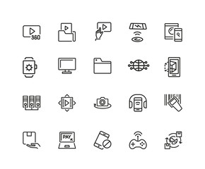 Set of Discovery Line Icons