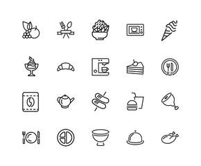 Set of Meal Line Icons