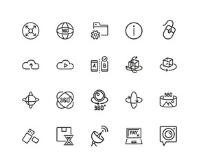 Set of Modern Technology Line Icons