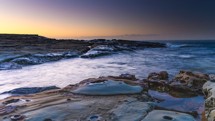 Sunrise Seascape and Rock Platform