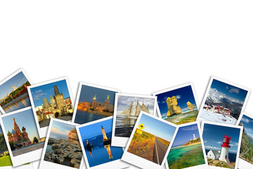 Travel Photo collage. Wall mural
