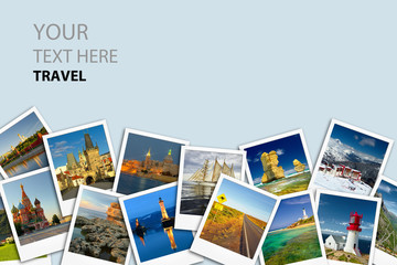 Travel concept. Photo collage