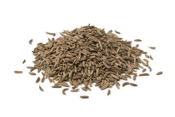 Heap of Caraway seeds