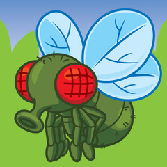 Cartoon Fly, Cute vector, Cute cartoon