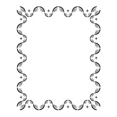 Frame rectangle of wavy line card