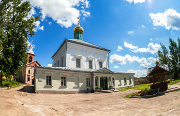 Temple of the Descent of the Holy Spirit on the Apostles (1653) at the Holy Spirit Monastery (1327) in Borovichi, Russia
