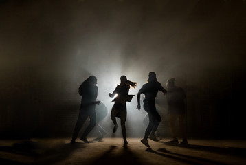 concept of dancing at disco party.having fun with friends. being keen on night clubs. relax together.