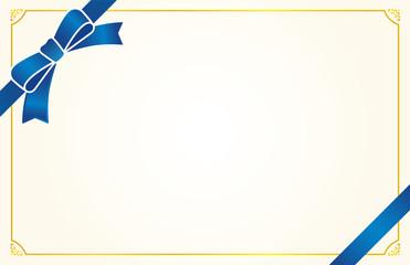 リボン(ブルー) カードフレーム