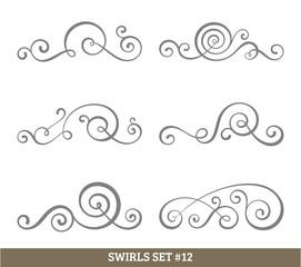 Calligraphic swirls collection