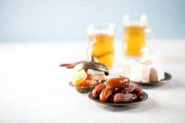 Dried dates and tea