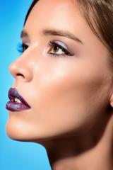 sensual violet lips